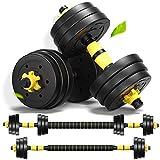 MontSprit Weights Dumbbells Set Adjustable Dumbells Barbell Set of 2, Weights for Exercises 20lb/30lb/40lb (30lb (15lb x 2)) (40lb (20lb x 2))