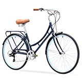 sixthreezero Ride In The Park Women's 7-Speed Touring City Bike, 700x32C Wheels, Navy Blue, 17'/One Size