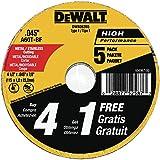 DEWALT Cutting Wheel, General Purpose Metal Cutting, 4-1/2-Inch, 5-Pack (DW8062B5)