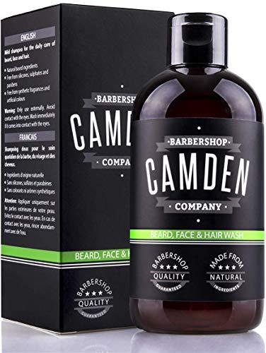 Shampoo per Barba 2 in 1 di Camden Barbershop Company ● Detersione di Barba e Viso con Ingredienti Naturali ● Fragranza Fresca ● Senza Profumo ● 250 ml