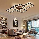 WHL Plafonnier De Salon Plafonnier LED Dimmable Salon Lustre Lampe avec...