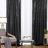 4 Pieces Glitter Sequin Backdrop Curtains for Wedding Party Decor 2FTx8FT Sequence Halloween Wedding Party Backdrop Curtain