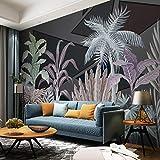 Msrahves papiers peints panoramiques Aquarelle plante cocotier Décoration Murale XXL Poster Tableaux Muraux Photo Trompe l'oeil Panorama Effet Salon Appartement Photo d'art