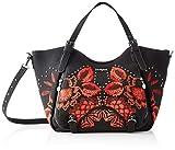 Desigual Bag Gemini Rotterdam, Sac à l'épaule Femme, Schwarz (Negro), 30x15x31...