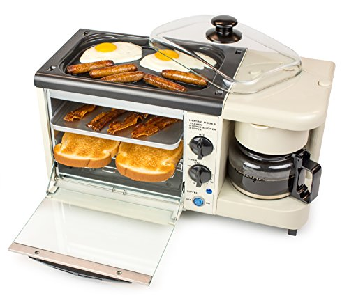 Nostalgia BSET100BC Retro 3-in-1 Breakfast Station Coffeemaker,...