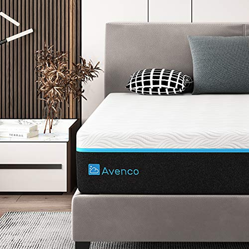 King Mattress, Avenco King Memory Foam Mattress in a Box 12 Inch, King Bed Mattress with CertiPUR-US Foam for Supportive, Cooler Sleeping & Pressure Relief, 10-Year Support