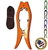 Brush Gripper Securely Anchor Your Kayak, Canoe or Boat in Seconds. The Harder You Pull The Tighter It Grips! - Made in USA