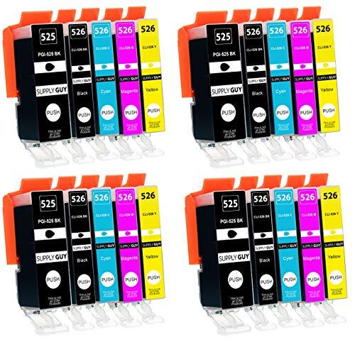 Supply Guy 20 Druckerpatronen mit Chip kompatibel mit Canon PGI-525 CLI-526 für Pixma IP-4850 IP-4950 IX-6550 MG-5140 MG-5150 MG-5240 MG-5250 MG-5300 MG-5340 MG-5350 MX-715 MX-885 MX-895