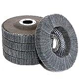 5Pcs 4.5' x 7/8' Nylon Fiber Buffing Wheel Scouring pad Flap Polishing Disc for Angle Grinder (Grit 800)