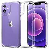 Spigen 強化 ガラス 全透明 iPhone12 用 ケース iPhone12Pro 用 ケース 6.1インチ MagSafe 対……