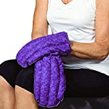 Kozy Collar Microwavable Heating Mittens for Hand and Fingers to Relieve Arthritis, Pains and Soreness – Natural, Safe and Reusable … (Small - Medium, Purple)