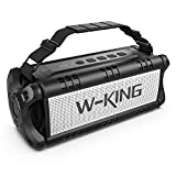 50W(70W Peak) Bluetooth Speakers Built-in 8000mAh Battery Power Bank, W-KING Wireless Outdoor...