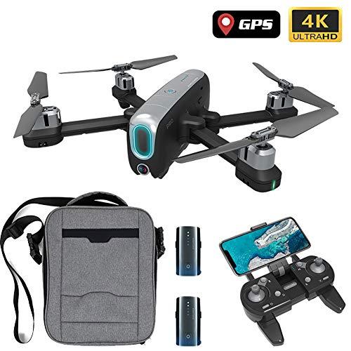 SLCE Drone GPS Telecamera 4K HD Drone Professionale con 120Grandangolare Regolabile, 5G WiFi 1Km Video Live, Quadricottero RC con Ritorno Home, Seguimi, Volo Circolare, per I Principianti,Nero