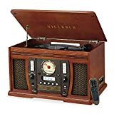 Victrola Aviator: 8-in-1 Bluetooth turntable, Mahogany