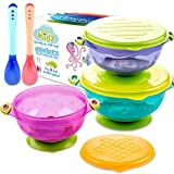 SUPABOWL Baby Suction Bowls for Toddlers, Baby Feeding Set with Spoons BPA free