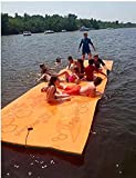 Maui Mat (by Aqua Lily Products, Floating Foam Fun Pad Designed for Water Recreation and Relaxing (20ft)