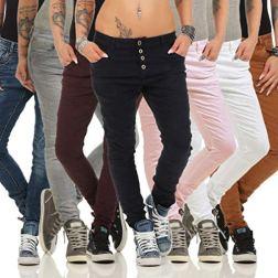 Lexxury-10118-Knackige-Damen-Jeans-Rhrenjeans-Hose-Boyfriend-Style-Damenjeans-Streetstyle-4XL48-wei