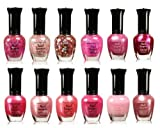 Kleancolor Collection - Awesome Pink Colors Assorted Nail Polish 12pc Set