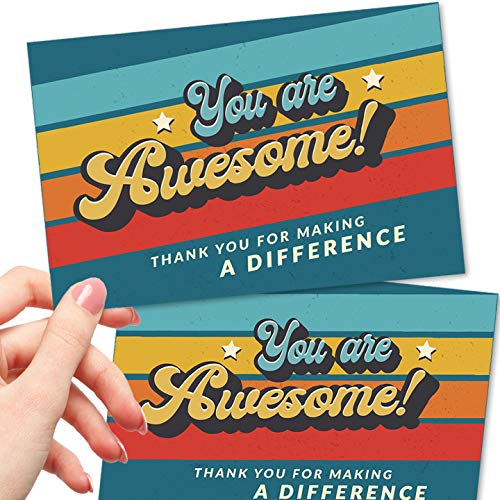 50 Large 4x6 You Are Awesome Postcards - Kudos Appreciation...