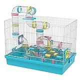 GNB PET Super Large Hamster DIY 20''x12''x15'' Cage Habitat with Complete Tunnel Module (Blue) (Blue)