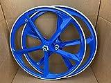 R4 29' BMX Bicycle 5-Spoke Mag Alloy WheelSet CNC (Royal Blue)