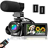 Video Camera Camcorder for YouTube, Aasonida Digital Vlogging Camera FHD 1080P 30FPS 24MP 3.0 Inch...