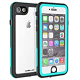 CellEver iPhone 6 / 6s Waterproof Case Shockproof IP68 Certified SandProof Snowproof Full Body Protective Clear Transparent Cover Fits Apple iPhone 6 and iPhone 6s (4.7 Inch) KZ Ocean Blue