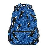 Mochila Bolsa para portátil, Orca Wild Killer Whale College School Book Bag Bolsa de Hombro de Corte 40cm (H) x29cm (W)