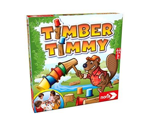noris 606061856 - Timber Timmy, Gioco di abilit e impilabilit, 2-4 Giocatori, per Bambini dai 3 Anni in su.