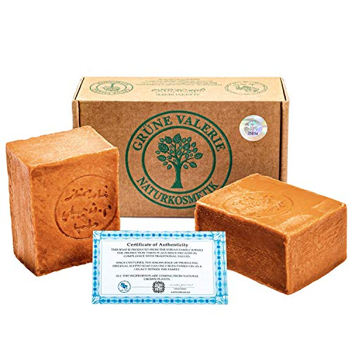 Grüne Valerie® Set de jabón original de Alepo 2 x 200g (4