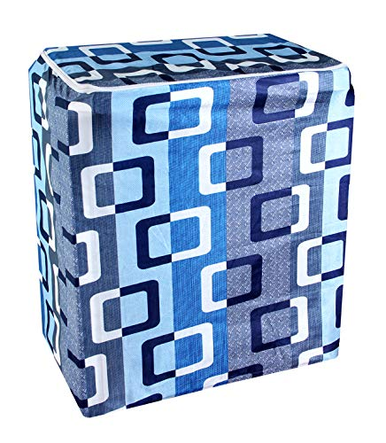 Crosmo PVC Semi Automatic Washing Machine Cover,(Blue)