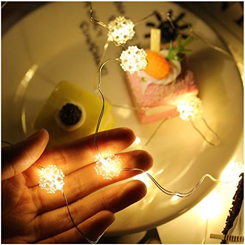 ESTEAR Luci della Stringa del LED, Luci della Decorazione di Natale Stellata del Cortile del Giardino Impermeabile All'aperto per Natale Matrimonio Compleanno Casa Giardino Party Fondali Patio Albero