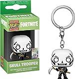 Funko- Pocket Pop Keychain: Fortnite: Skull Trooper Figura Coleccionable, Multicolor, Estándar (36952)