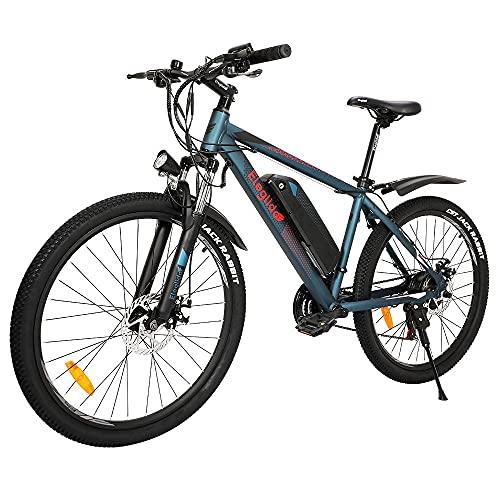 Eleglide Vélo Électrique,26' Vélo Électrique en Montagne,250W Moteur VTT Électrique pour Adulte vec Batterie Amovible 36V / 7.5AH Professionnel Shimano 21 Vitesses-M1