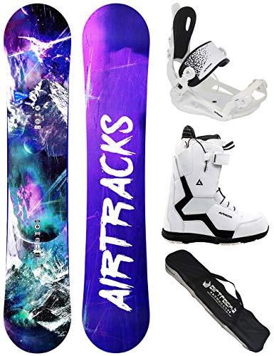 Airtracks Set de snowboard pour femme - High M Carbon Rocker 150 + fixation Master + bottes de snowboard Strong W QL 42 + sac de rangement