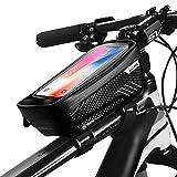 Ming Yuan - Funda para cuadro de bicicleta, impermeable, con bolsillos de tubo superior para iPhone 8 Plus/X/XS Max/XR/Samsung S8 / S9 Plus, hasta 6,6 pulgadas