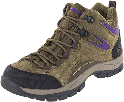 Northside Women's Pioneer-W Hiking Boot, Medium Brown/Dark Purple, 8 M US