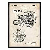 Nacnic brevettati Fotocamera da 8 Millimetri di Poster Foglio con Il Vecchio Brevetto di Disegno in Formato A3 e Vintage Sfondo