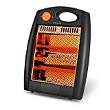 Portable Radiant Heater  Infrared Radiant Heater Quartz Infrared Heater with 2 Heat Settings, Quiet and Light Radiant Space Heater without Fan, Warm up Immediately, Overheat & Tip-Over Protection