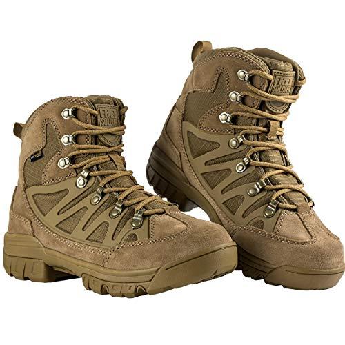 Free Soldier Botas tácticas de Tiro Medio Alto Zapatos de Trekking de...