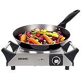 Duronic HP1 SS Plaque de cuisson chauffante électrique avec foyer en fonte...