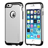 iPhone 6s Plus Case, LUVVITT [Ultra Armor] Shock Absorbing Case Best Heavy Duty Dual Layer Tough Cover for Apple iPhone 6/6s Plus - Black/Silver