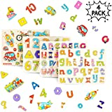 4pcs Puzzles En Bois ABC Alphabet, D'animaux Und Nombres Pour Les Enfants | Aide...