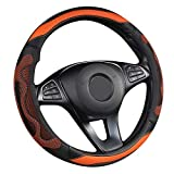 HaoHao Car Steering Wheel Cover Pu Leather Universal Fit 14.5 to15...
