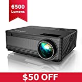 YABER Native 1080P Projector 6500 Lux Upgrad Full HD Video Projector (1920 x 1080) Support 4k and Zoom, Home Projector Compatible with TV Stick,HDMI,VGA,USB, Smartphone,PC,Xbox