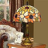 GUSICA Lampe de Table Tiffany Style, 12 Pouces Lampes à Poser Vintage avec...