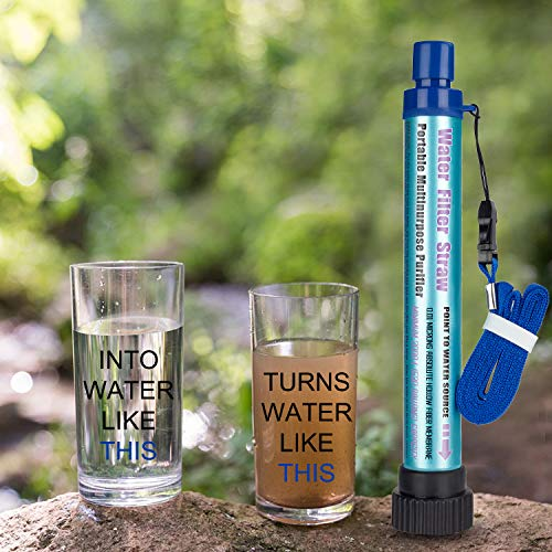 Product Image 4: DOTSOG Personal Water Filter Straw BPA Free with 2000L 4-Stage,Portable Water Purifier Lightweight for Hiking Camping Survival Outdoor Backpacking Traveling Emergency