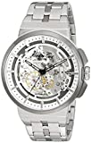 Kenneth Cole New York Men's Automatic Stainless Steel Case Leather Strap/Stainless Steel Bracelet Dress Watch,(Model:10022314/15)