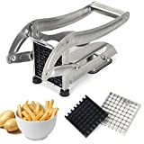 French Fries Cutter, LSOFNRB Quick Cut Effect Stainless Steel Potato Cutter, Easy to Clean Potato...