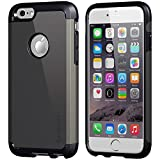 Luvvitt Ultra Armor Shock Absorbing Heavy Duty Dual Layer Case for Apple iPhone 6 / iPhone 6s - Black/Gunmetal